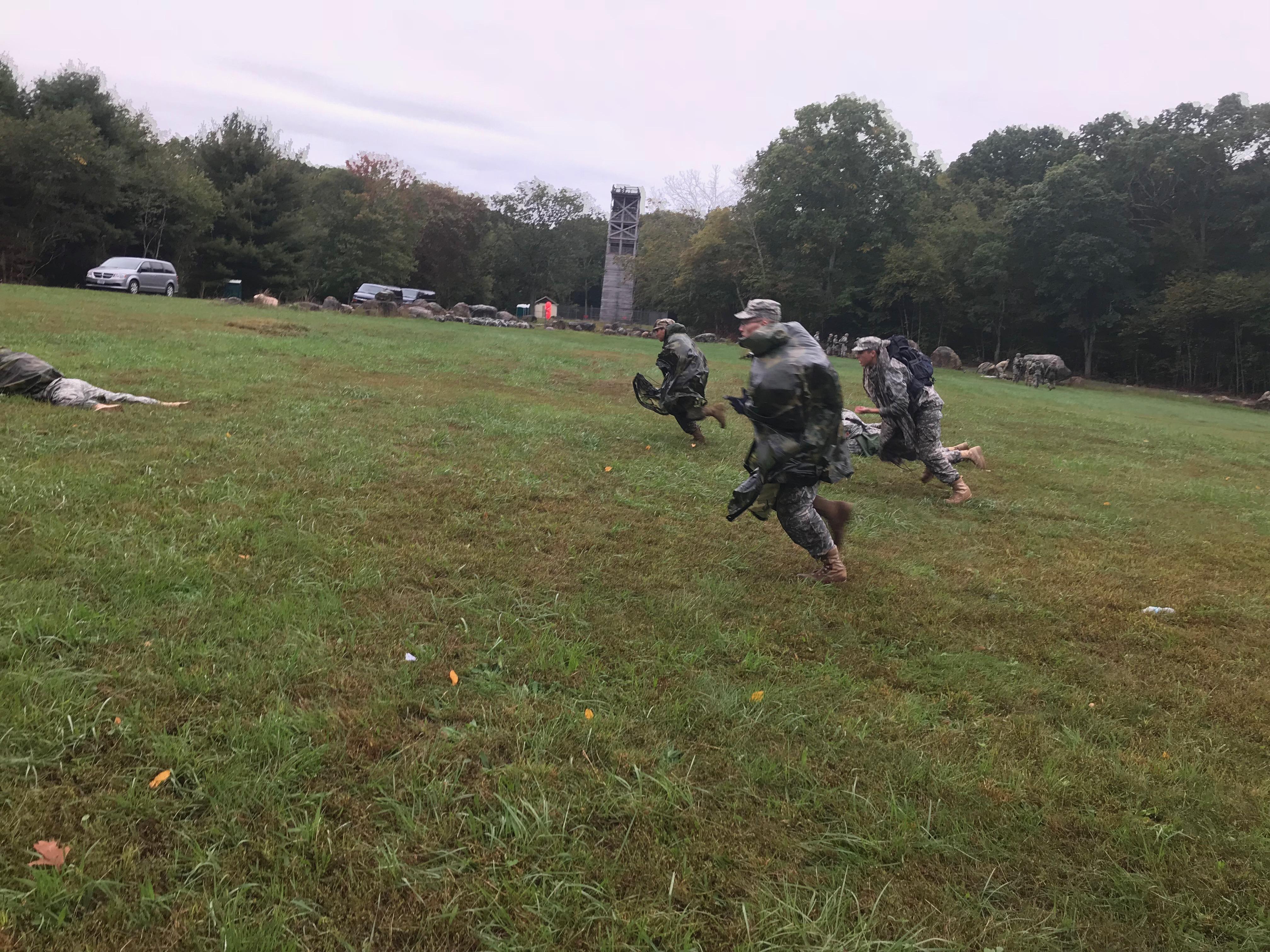 Cadets perform individual movement techniques training