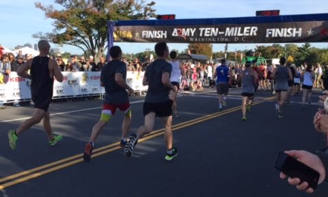 The finish line of the Army Ten-Miler