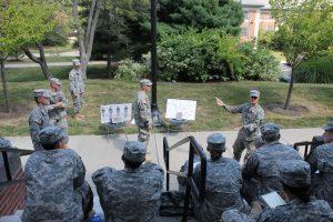 Senior cadets provide instruction during a Leadership Lab