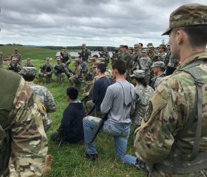 Cadets receive instruction during a Leadership Lab