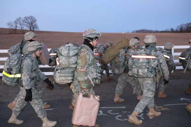 Platoon conducts a CASEVAC exercise